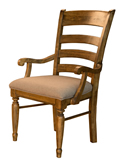 Attirant Ladderback Upholstered Arm Chair
